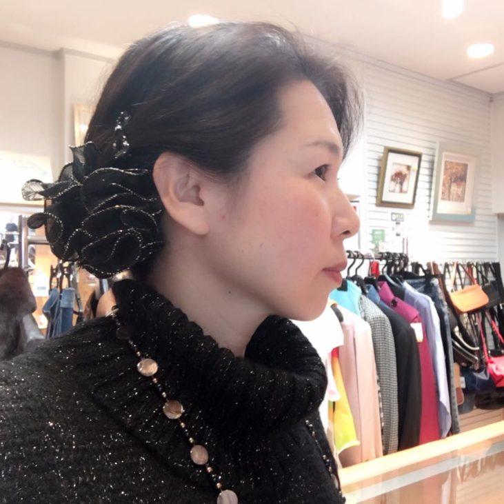 福岡の質屋ハルマチ原町質店 春待ち着物 着付け研究部 一人で出来るまとめ髪